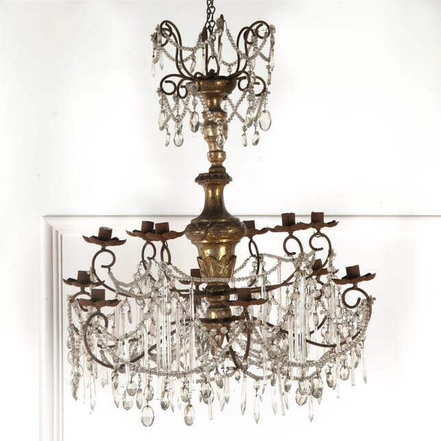 Italian Chandelier with Silvered Stem LC9261651