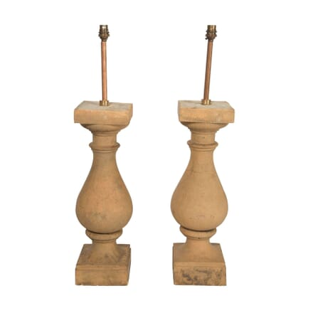 Pair of Terracotta Baluster Lamps LT9057609