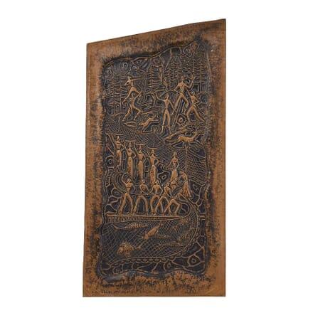 Decorative 1950s Copper Panel WD0660616
