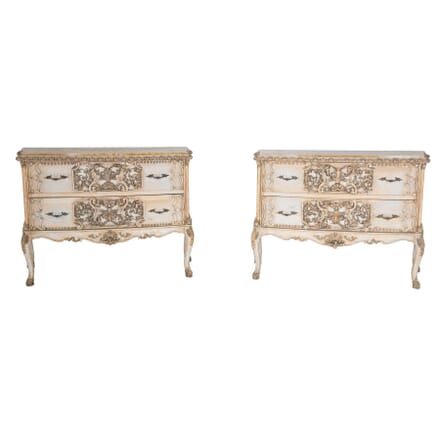 Pair of 1930s Italian Painted Commodes CC0659497