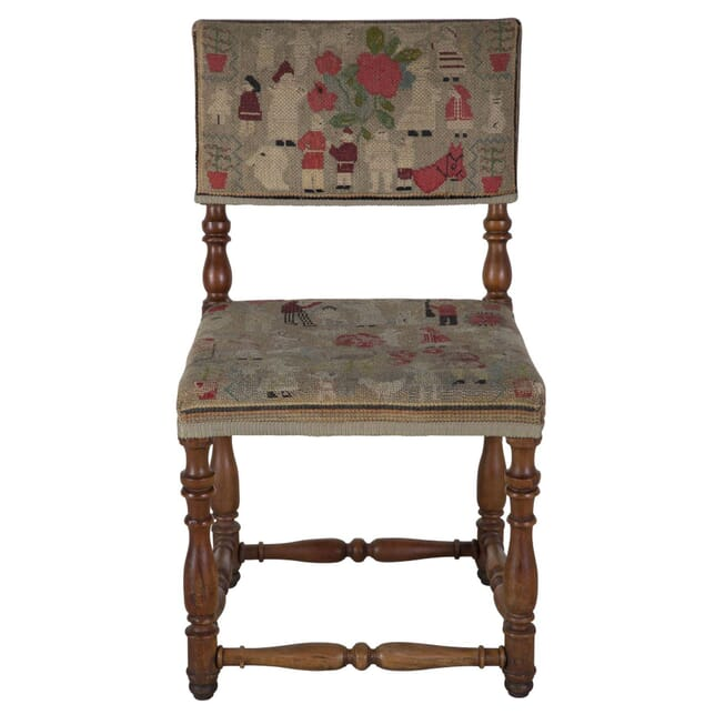 Pair of English country tapestry chair CH289194