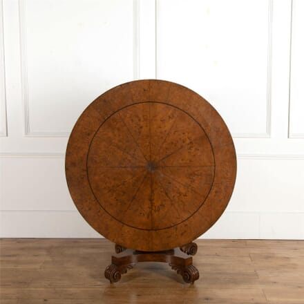 19th Century Burr Oak Centre Table TC107242