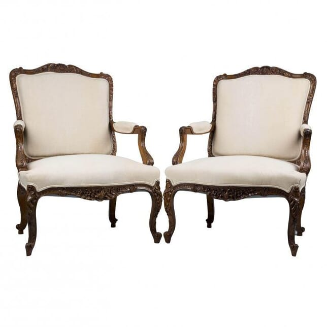 Pair of Louis XV Revival Fauteuils CH171890