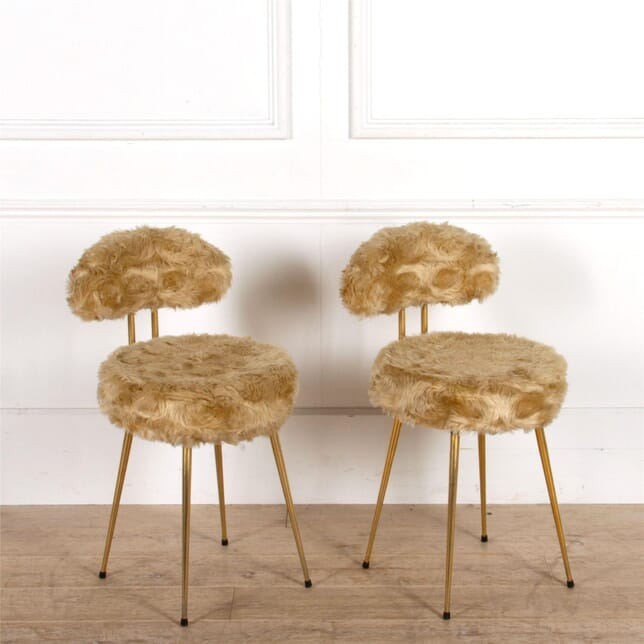 Champagne Coloured Furry Cocktail Chairs CH307466