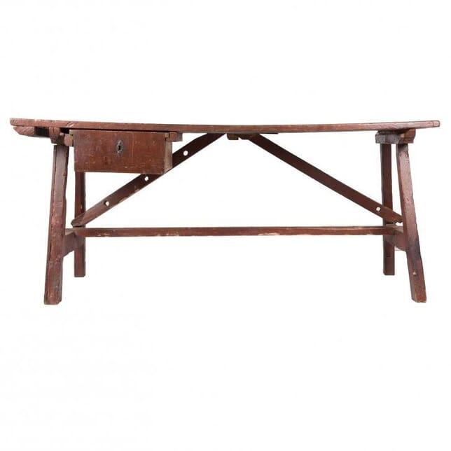 Early 19th Century Italian Trestle Table TD011903