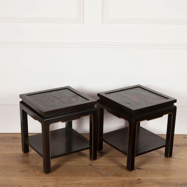 Chinese Lacquer Side Tables CT3861268