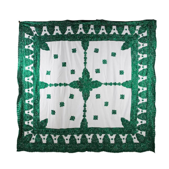 Moroccan Silk Embroidered Throw RT0153925