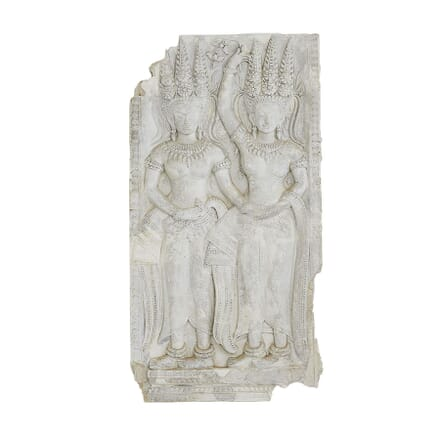 Plaster Cast Panel of a Cambodian Angkor Wat Temple Carving WD0660895