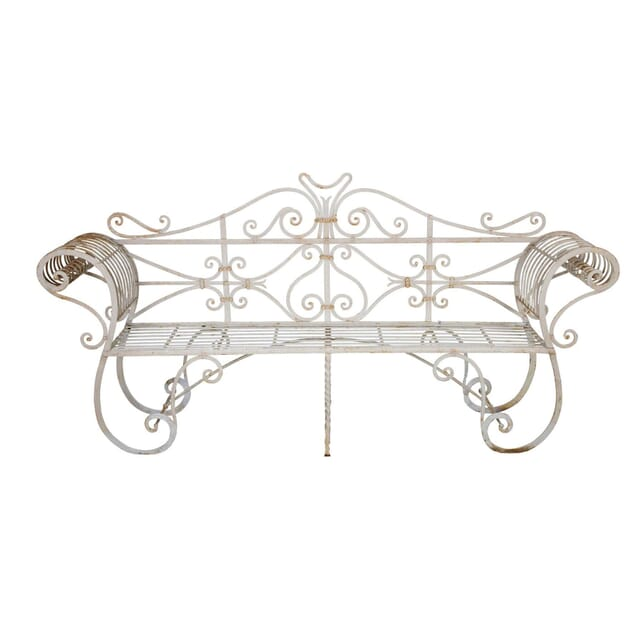 Regency Wrought Iron Garden Bench Seat GA035606