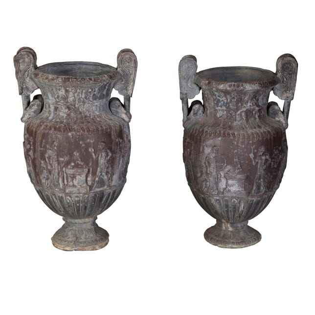 Pair of Lead Urns GA1358737