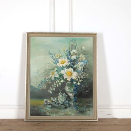 Early 20th Century Oil on Canvas Floral Still Life WD5860333