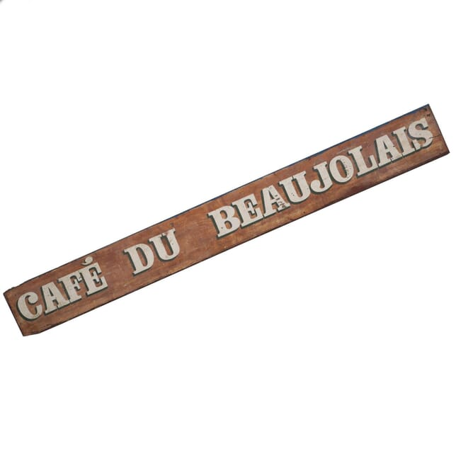 Café du Beaujolais Sign WD02200