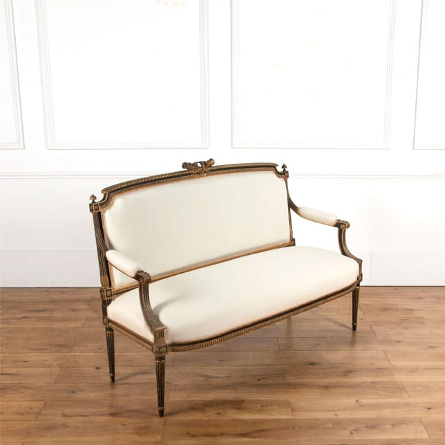 French 19th Century Neo-Classical Ebonised & Gilt Sofa SB597081