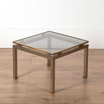 Steel and Brass Side Table by Guy Lefevre for Maison Jansen CO5762095