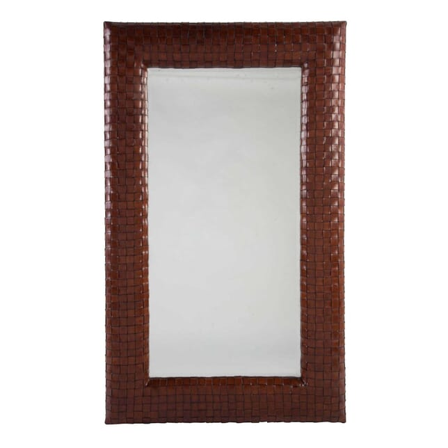 Woven Leather Framed Mirror MI0113574