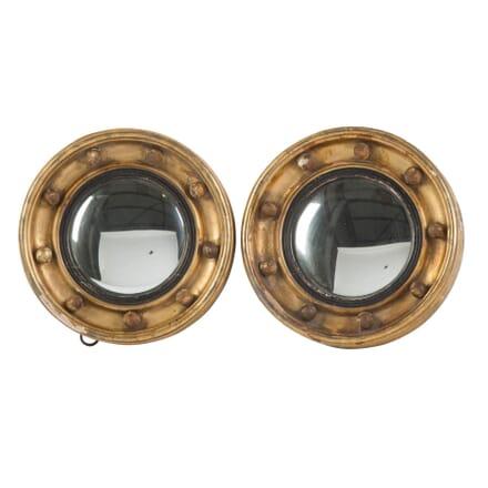 Pair of 19th Century Convex Mirrors MI2054686