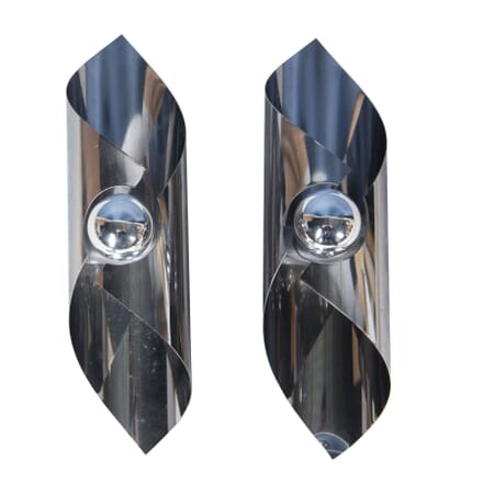 Pair of Chrome Wall Lights LW3757054