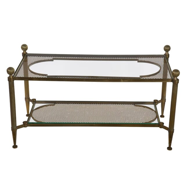 Brass and Glass Coffee Table CT5255665