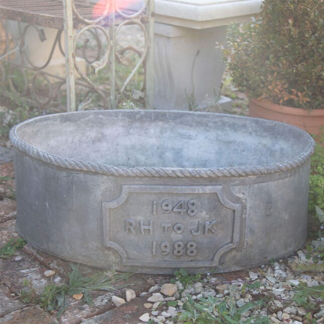 20th Century Oval Lead Planter GA427678