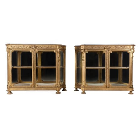 Pair of Gilded Side Cabinets BK102077