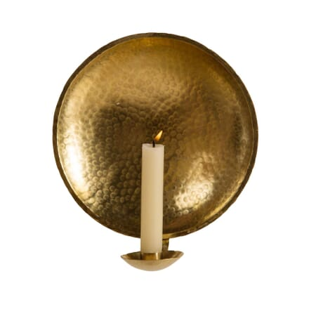 Large Brass Candle Sconce LW0159544