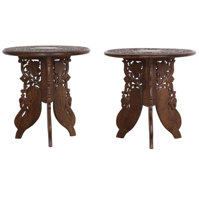 Pair of Indian Low Occasional Tables TC038300