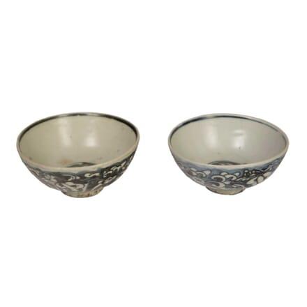 Pair of Nanking Cargo Porcelain Bowls DA9057607
