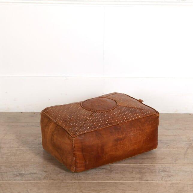 Leather Pouffe Foostool ST687077