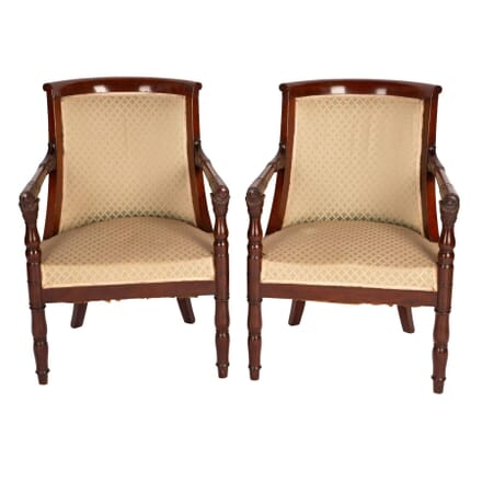Pair of French Empire Style Armchairs CH5259017