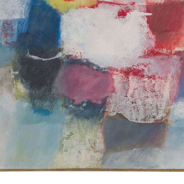 Abstract Oil on Panel Painted by Bernard Zawisa WD3010373