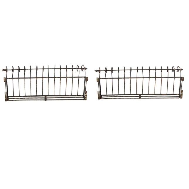 Pair of French Cast Iron Window Baskets GA2060648