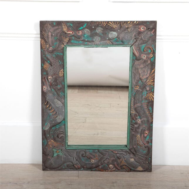 Mirror with Carved and Painted Fish Frame MI0561534