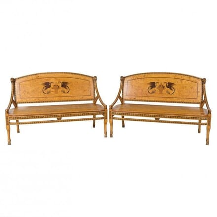 Pair of Swedish Birch Benches SB112267
