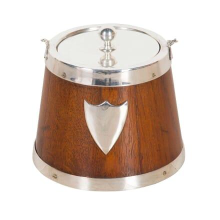 Oak and Silver Plate Bucket DA1359796