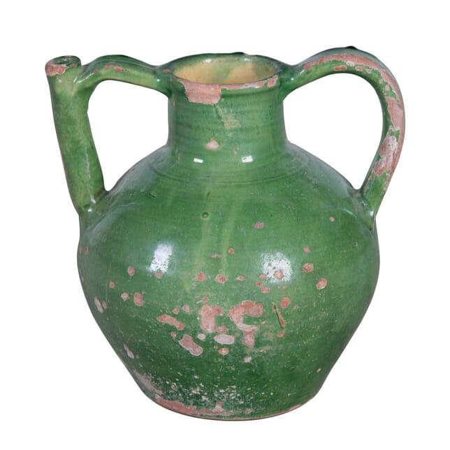 19th Century Green Glazed Cruche Orjol DA9055723