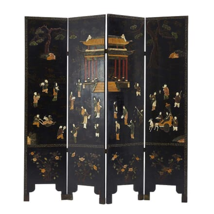 19th Century Carved Stone and Laquered Screen OF0660339