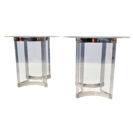 Pair of Octagonal Perspex Tables TS5355961