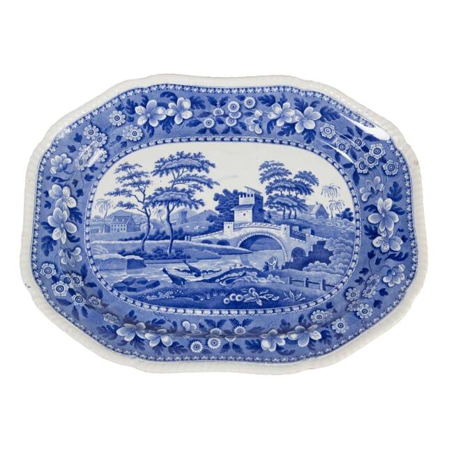 Large Blue and White Platter DA5557719