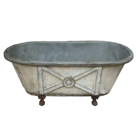 19th Century Painted Zinc Bath Tub GA3358948