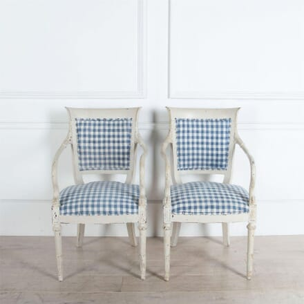 Pair of Painted Italian Armchairs CH9060456