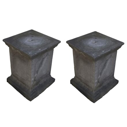 Pair of Dry Cast Composite Stone Plinths GA3358945