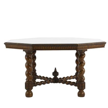 19th Century English Oak Octagonal Centre Table TC0662259