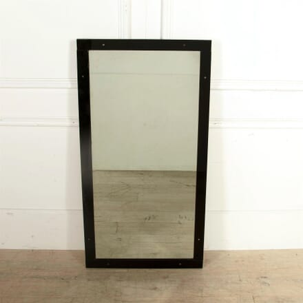 Black Glass Framed Mirror MI7461603