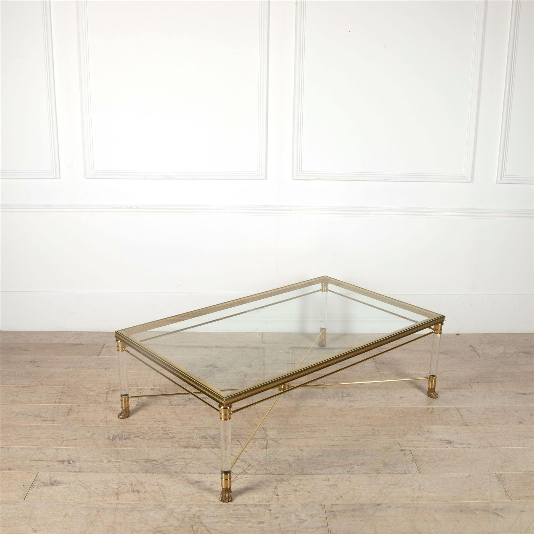 Picture of: Mid Century Brass Coffee Table