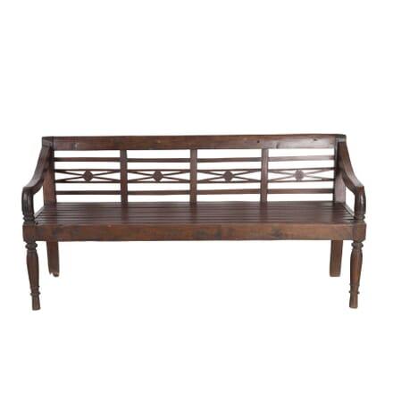 19th Century Fruitwood Bench GA2055755