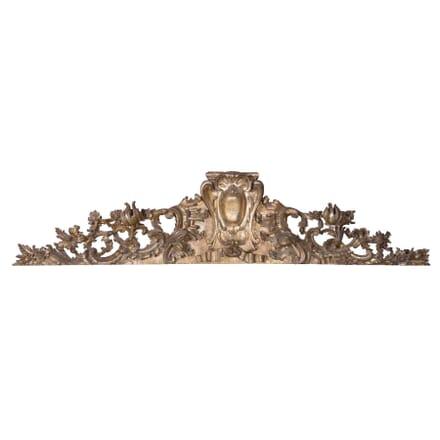 Venetian 18th Century Carved Giltwood Overdoor OF0958416