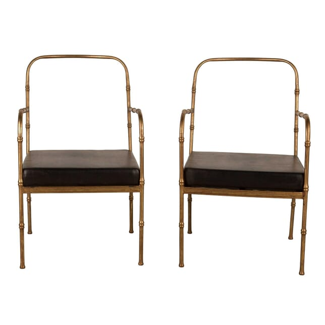 Pair of Jacques Adnet Style Armchairs CH1559587