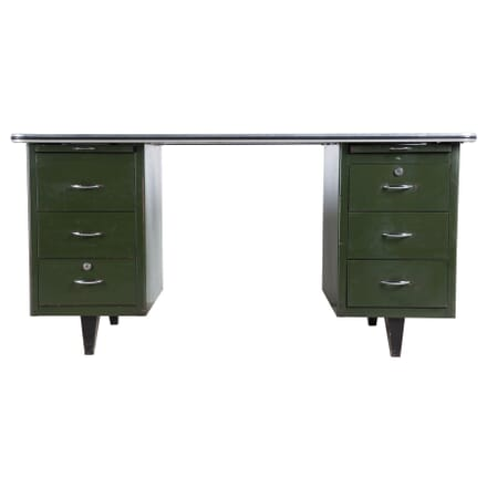 English Painted Metal and Chrome Desk DB308941