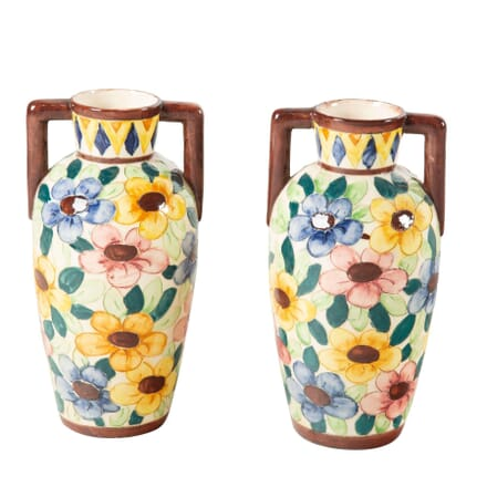 Pair of Bright Floral Vases DA7160729