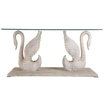 Carved Swan Centre Table TC139937